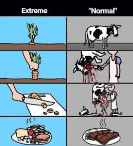 Extreme-Normal Karikatur