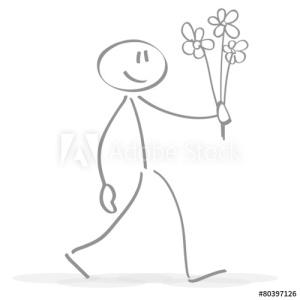 Menschlein das Blumen schenk