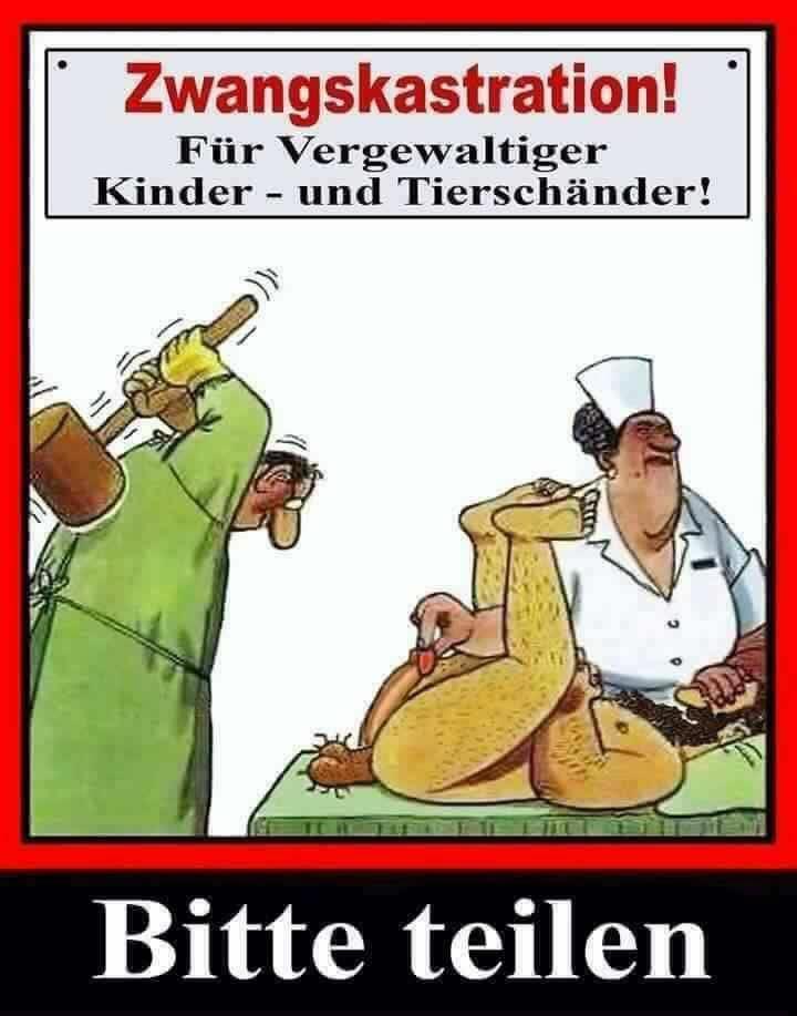 Zwangskastration für...Karikatur_n