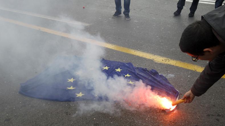 EU-Flagge verbrennen