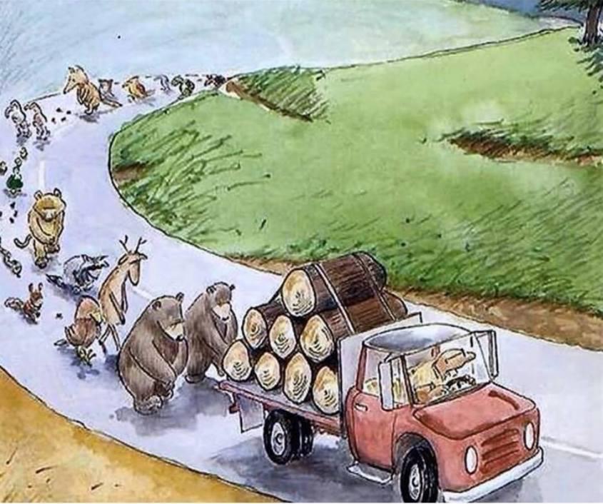 Litanei der Tiere wegen Waldzerstörung_n