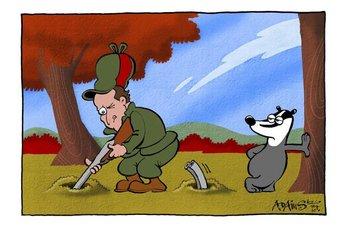 badg cartoon