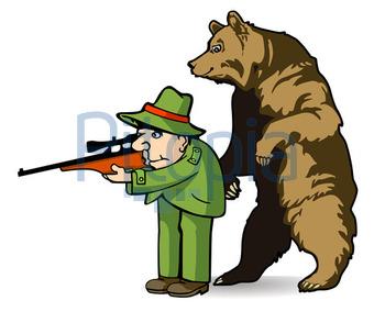 Bär hinter Jägerjpg