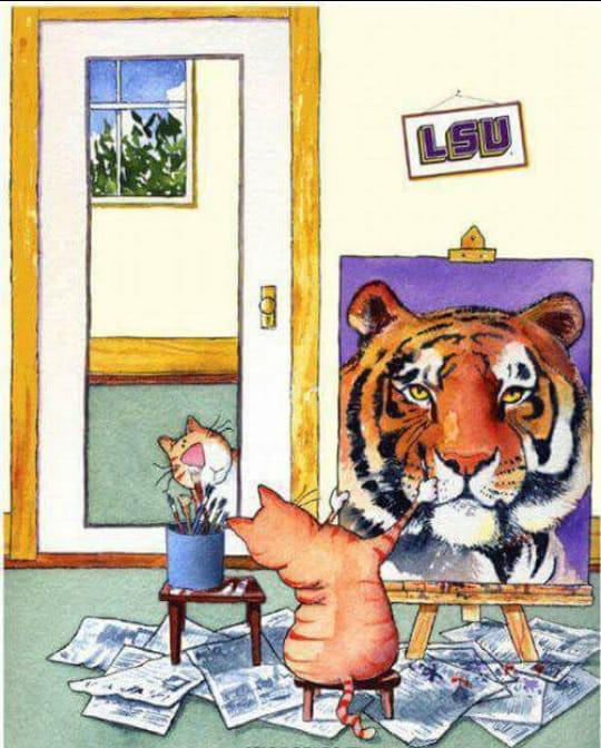Gato pintoro n
