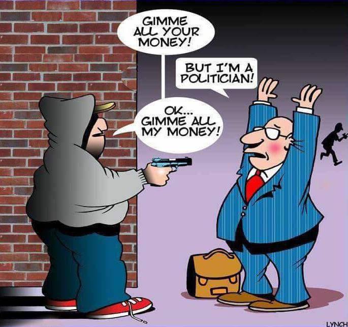 karikatur mit Überfall
