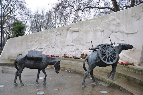 animals in war memorial london 1
