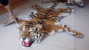 Tiger als Teppich