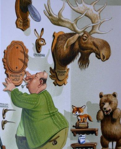 Brunos Jagdfieber Karikatur Wolfmgr
