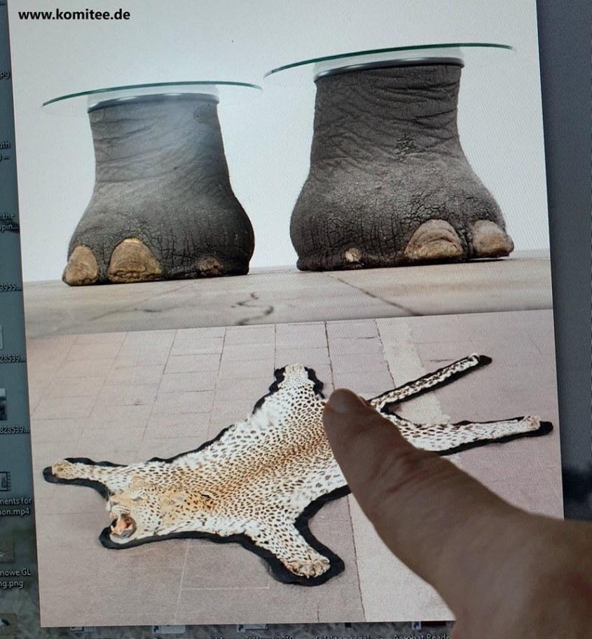 Elefanten Füße als Tischjpg
