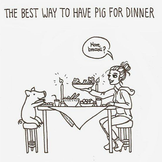 pig to dinner