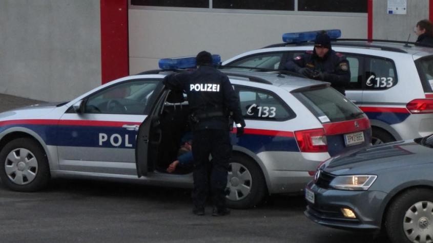 Polizeiwagen in Österreicho