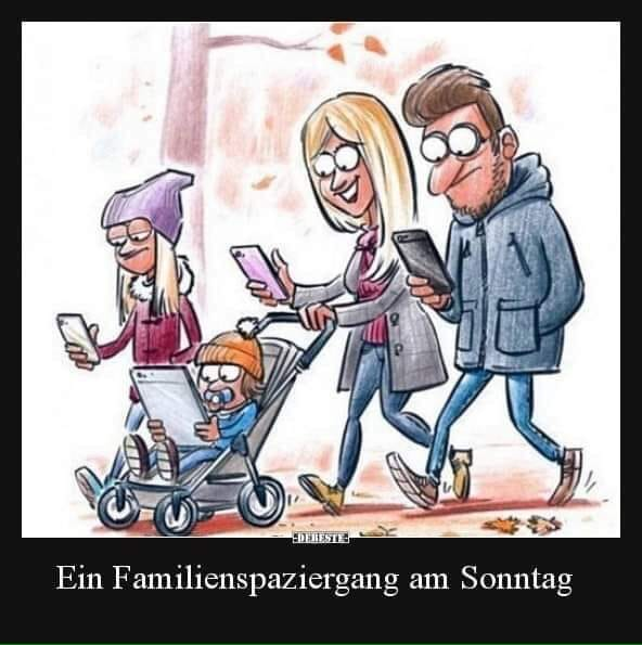 Familienspaziergang am Sonntag