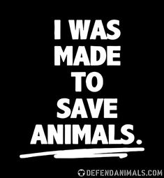 I was made to save animalspg