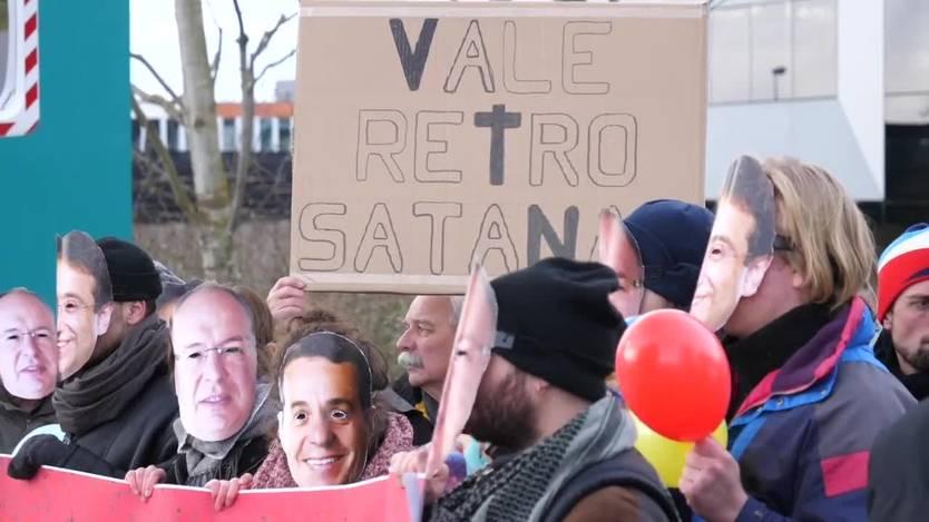 schweizer demonstranten gegen Vale