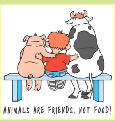 animals are friends, not foodpg