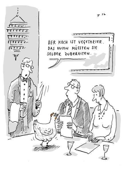schöner Karikatur über Paar am Restaurantn