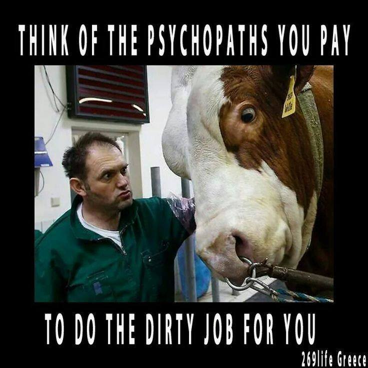 slogan über Psychopathen Kuhn