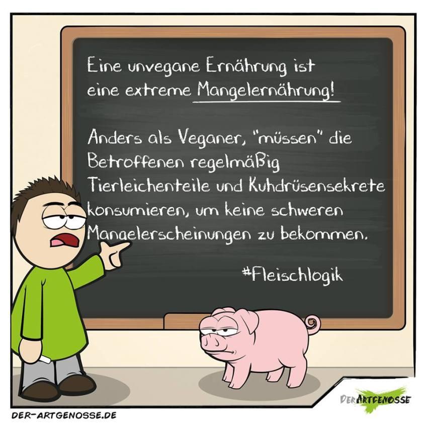 Karikatur Artgenosse_n