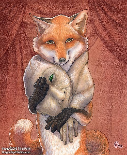 fur vegan art fox