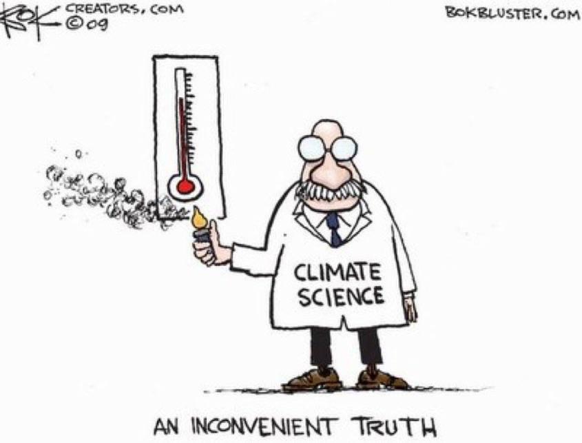 Karikatur über Klima