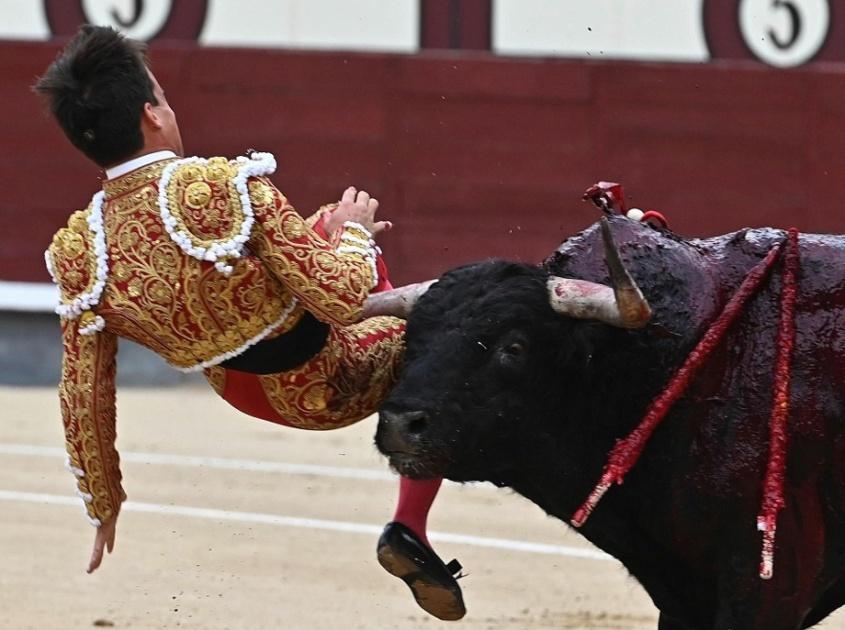 torero-gonzalo-caballero-am Stierkampf verletzt