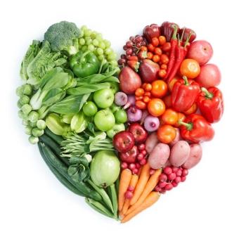 vegan fruit heart
