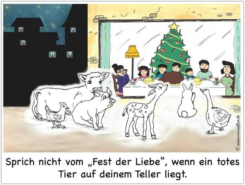 schöne Karikatur über tote iere in weihnachtenn