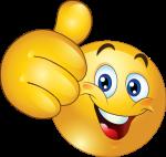 smile emoticon mit daumenpng