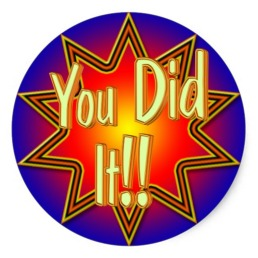 you did it 1
