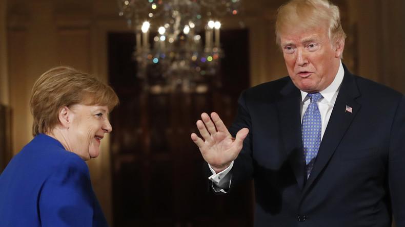 Foto mit Merkel und Trump