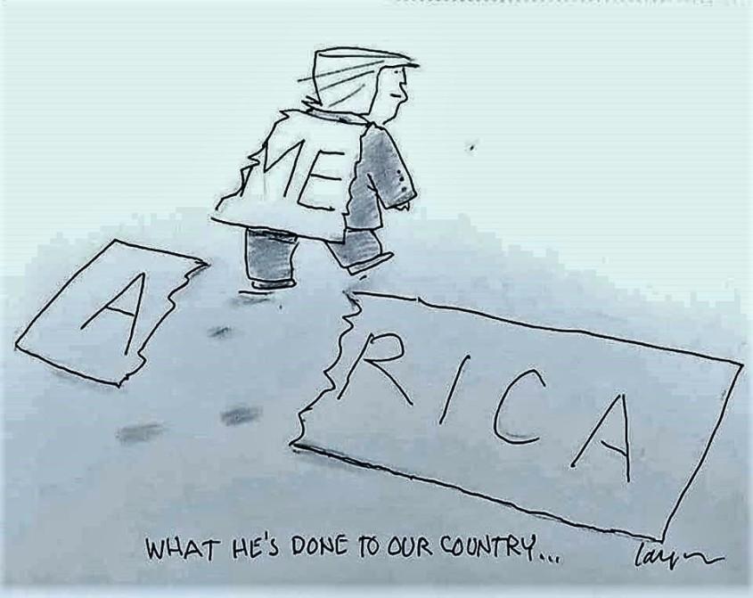 karikatur mit Trump pg