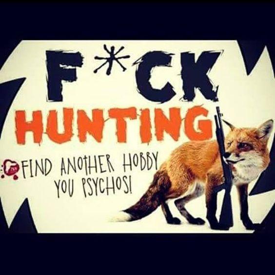 slogan mit fuchs gegen jagd